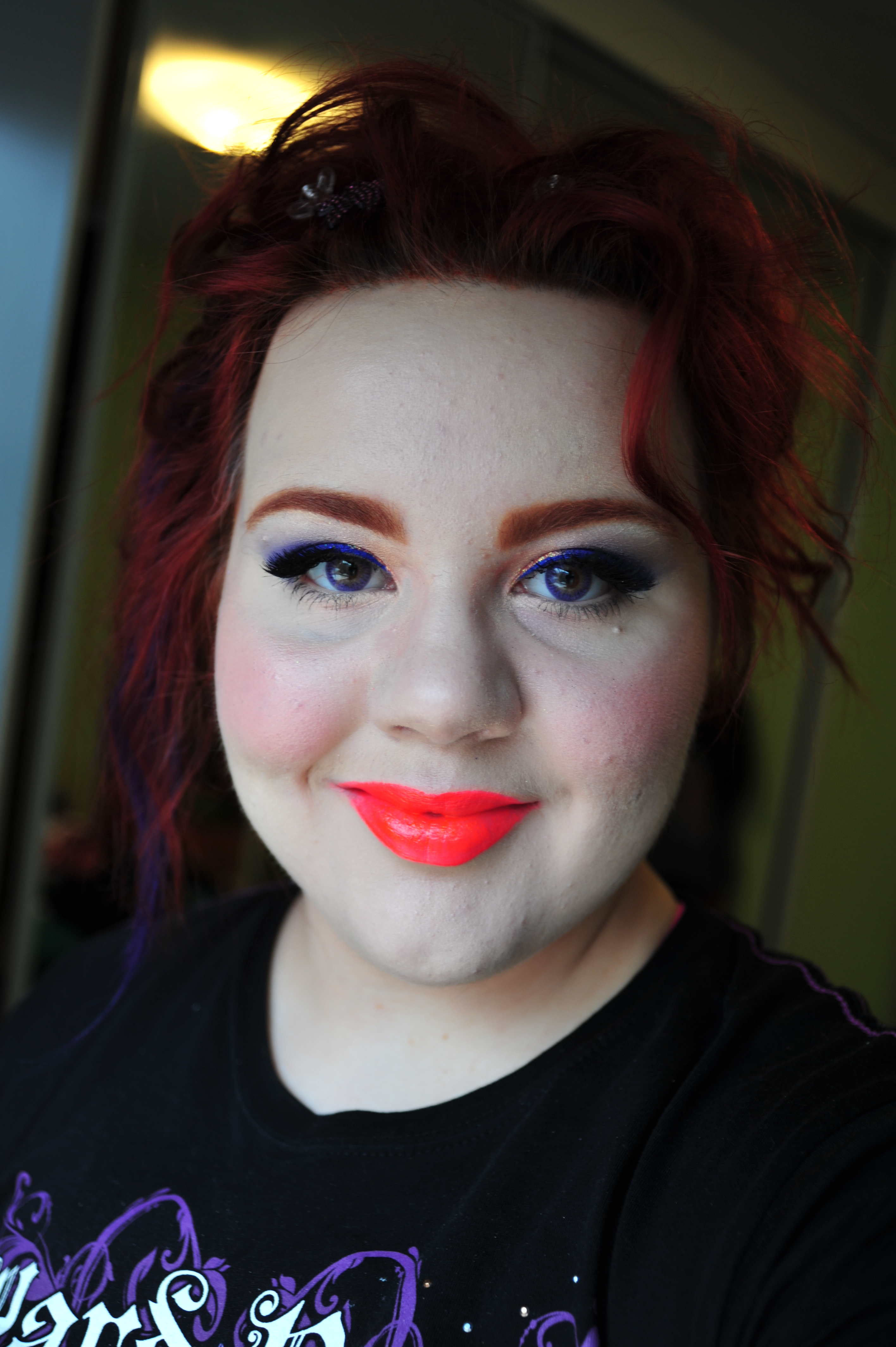Face Of The Day With Kryolan Glow In The Dark Lipstick