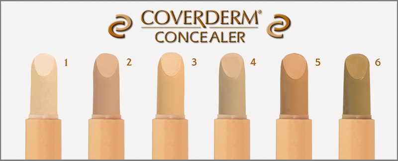 COVERDERM-Camouflage-CONCEALER shades