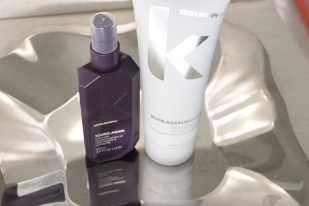 LEFT TO RIGHT: KEVIN MURPHY YOUNG AGAIN IMMORTELLE INFUSED TREATMENT OIL (OVER 95% LEFT) - 35 USD / KEVIN MURPHY BORN AGAIN MASQUE 6.7 FL OZ - 80% LEFT OR SO - 30 USD